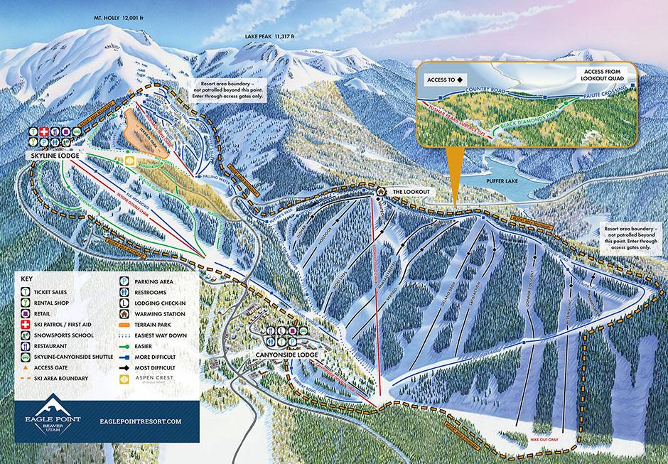 Trail Map Eagle Point Resort Utah Ski Resort - Beaver creek ski trail map
